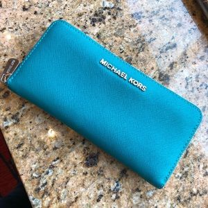 Michael Kors teal wallet